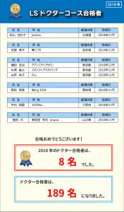 LSドクター合格者一覧_2018